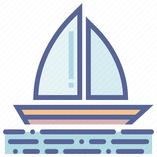 boat, boating, sail, yacht icon