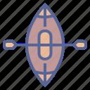 boat, canoe, paddle, rowing icon