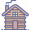 cabin, camping, cottage, wood icon