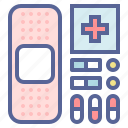 bandage, first aid, medicine, pills icon