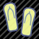 beach, flipflops, footwear, holiday
