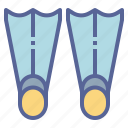 diving, flippers, scuba, swim icon