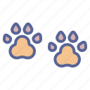 animal, dog, footmarks, footprint icon