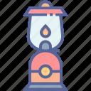 camping, lamp, lantern, light icon