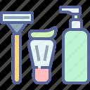grooming, razor, shave, shaving icon
