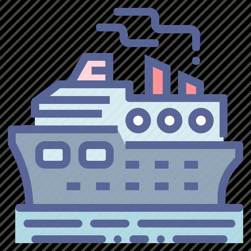 cruise, luxury, ocean, ship icon