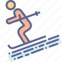 ski, skiing, snow, vacation icon