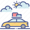 car, expedition, travel, vacation icon