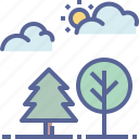 forest, outdoors, park, trees icon