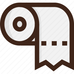 adventure, camping, paper, picnic, tissue, toilet, toilet paper icon