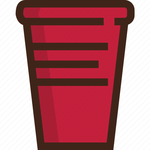 cup, picnic, plastic cup, red cup, travel icon