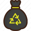 adventure, bag, camping, picnic, recycle, trash, trash bag icon