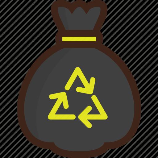 adventure, bag, camping, picnic, recycle, trash, trash bag icon