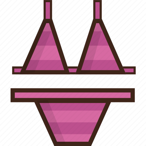 beach, bikini, summer, swimsuit, swimwear icon