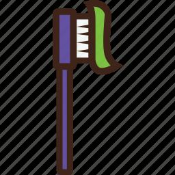 adventure, camping, toiletries, toothbrush icon