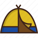 adventure, beach, camping, glamping, summer, tent, travel icon