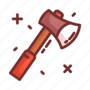 axe, camping, hatchet