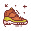 hiking, shoes, camping icon
