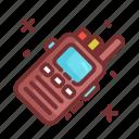 camping, communication, talkie, walkie icon