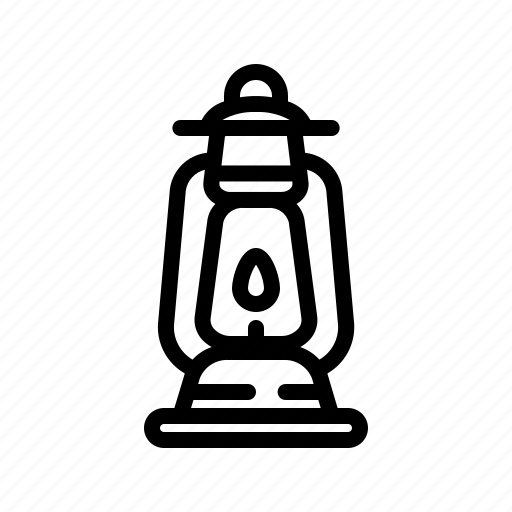 camp, camping, candle, lamp, lantern, light icon