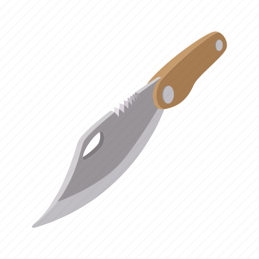 camping, cartoon, drawing, knife, pocket, steel, weapon icon