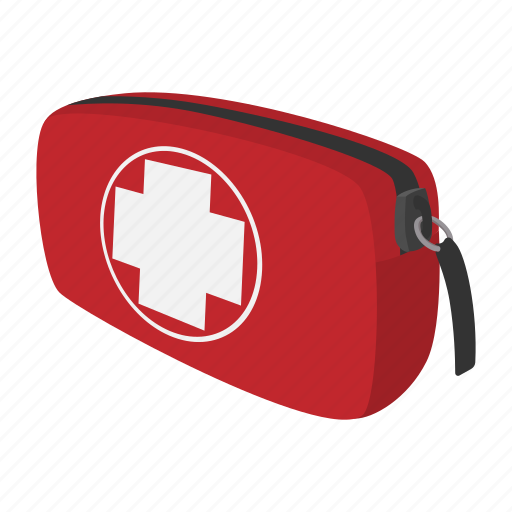 aid, camping, cartoon, chest, first, kit, traveller icon