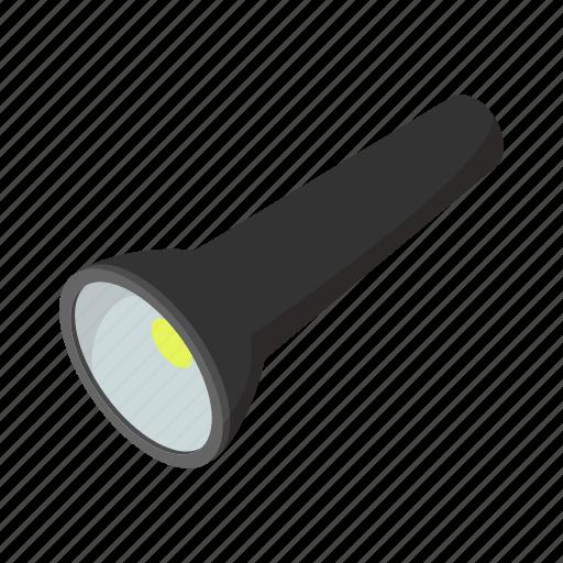 cartoon, electric, energy, flashlight, lamp, light, portable icon
