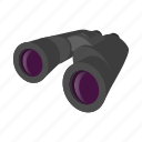 binocular, cartoon, discovery, grey, telescope, view, vision icon