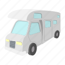 caravan, cartoon, home, mobile, outdoor, travel, truck icon