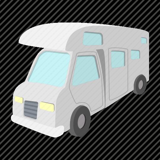 caravan, cartoon, home, mobile, outdoor, travel, truck icon