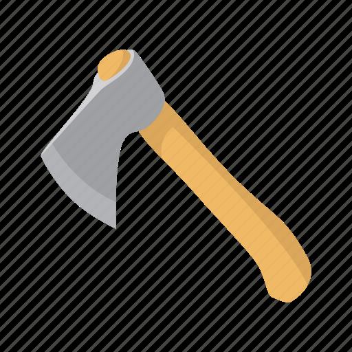 art, ax, axe, cartoon, chop, handle, tool icon