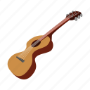 acoustic, cartoon, classic, guitar, music, rock, string icon