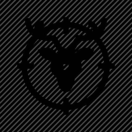 animal hunting, hunt, hunting, sport, target icon