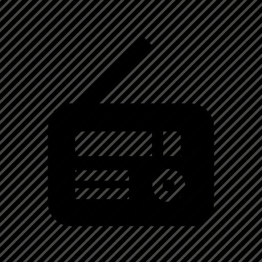 camping, communication, news, radio, transistor icon