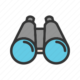 binoculars, cloud, large, river, searching, sky, telescope icon