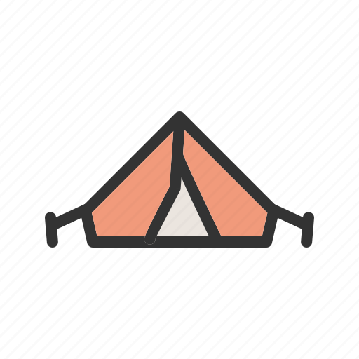 Adventure, camping, hiking, lights, night, northern, tent icon - Download on Iconfinder