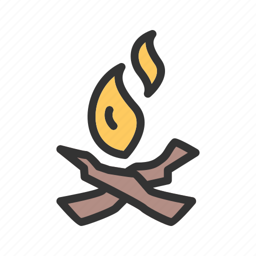 beach, bonfire, camp, campfire, fire, night, wood icon