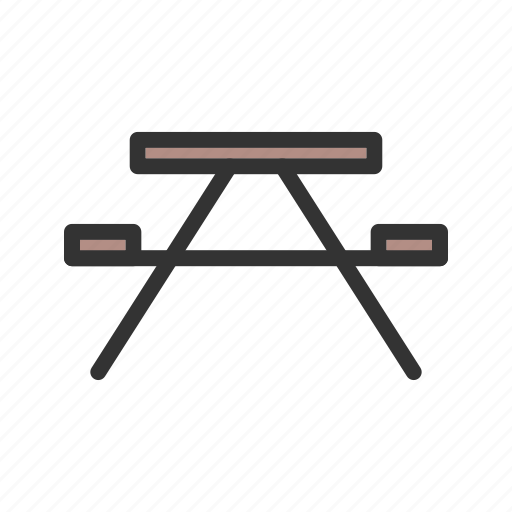 Bench, forest, furniture, garden, green, park, wooden icon - Download on Iconfinder