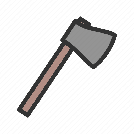 axe, cut, handle, sharp, steel, tool, wooden icon