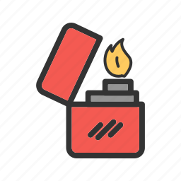 cigarette, equipment, gasoline, lighter, matches, metal, object icon