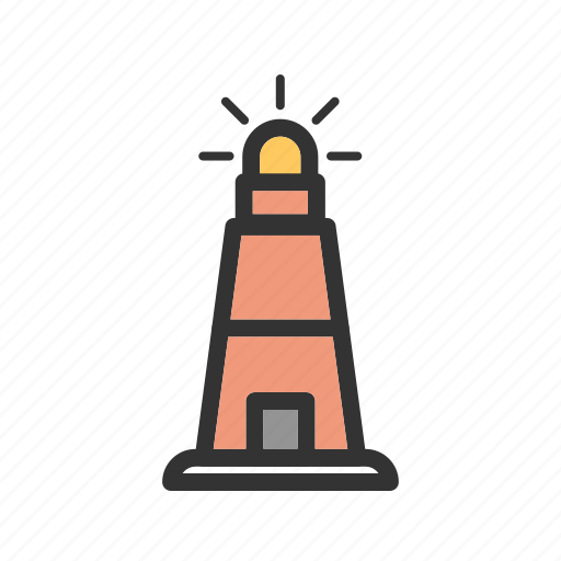 beacon, house, light, lighthouse, ocean, sea, tower icon