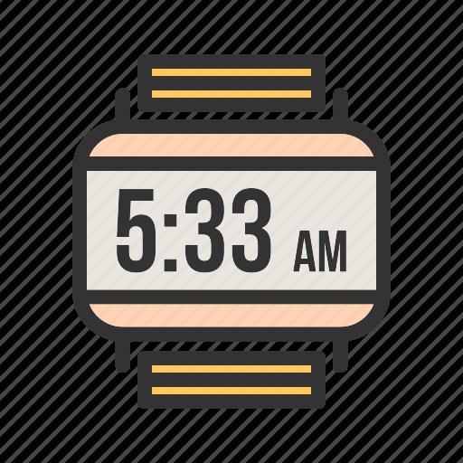Clock, digital, smart, sport, watch, wrist, wristwatch icon - Download on Iconfinder