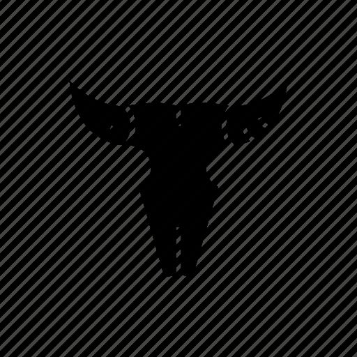 bones, bull, cow, death, desert, skull, wild icon