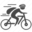 bicycle, bike, biker, biking, cycling, cyclist, sport icon