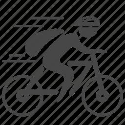 bicycle, bike, biker, biking, cycling, cyclist, sport icon