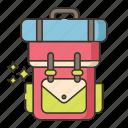 backpack, bag, school, travel