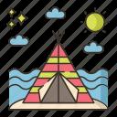 beach, camping, summer, vacation