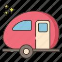 camper, room, transport, truck icon