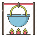 campfire, cooking, food, outdoor icon