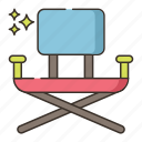 camping, chair, outdoor, travel icon